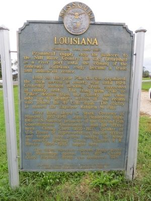 Louisiana Marker <i>Side B:</i> image. Click for full size.