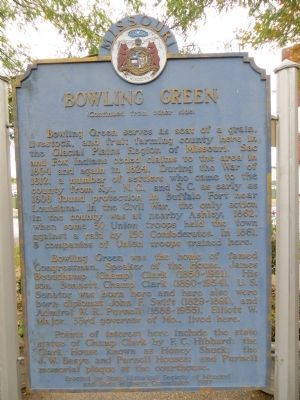 Bowling Green Marker <i>Side B:</i> image. Click for full size.