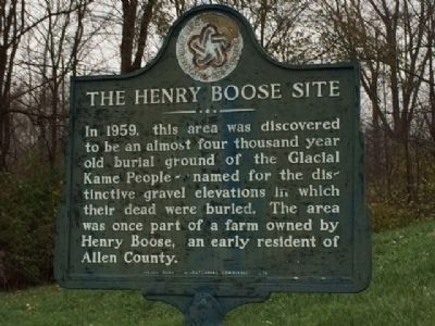 The Henry Boose site Marker image. Click for full size.