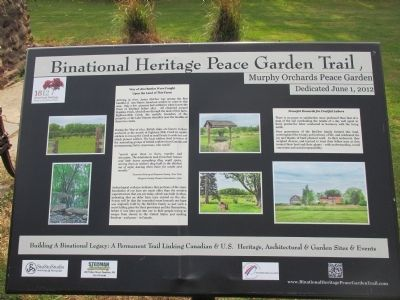 Binational Heritage Peace Garden Trail Marker image. Click for full size.