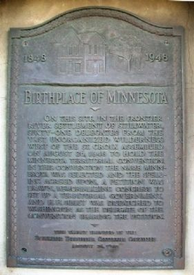 Birthplace of Minnesota Marker image. Click for full size.