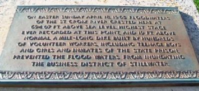 1965 Easter Sunday Floodwater Crest Marker image. Click for full size.