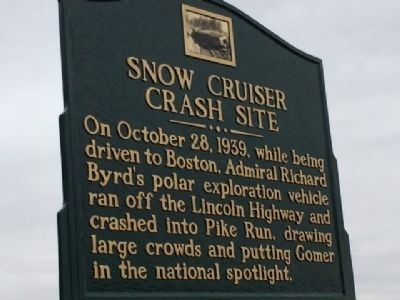 Snow Cruiser Crash Site Marker image. Click for full size.