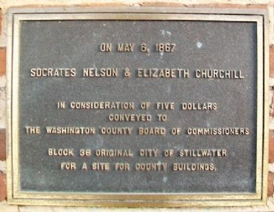 Washington County Public Land Donation Marker image. Click for full size.