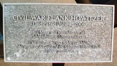Civil War Flank Howitzer Marker image. Click for full size.