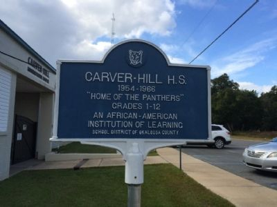Carver-Hill H.S. Marker image. Click for full size.