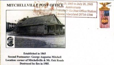 Mitchellville Post Office<br>Event Cover image. Click for full size.
