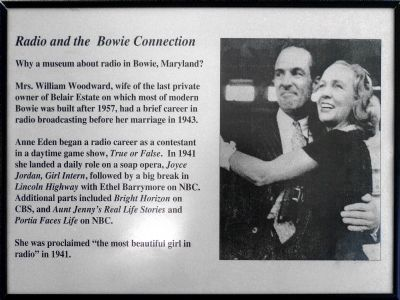 <i>Radio and the Bowie Connection</i><br>Why a museum about radio in Bowie, Maryland? image. Click for full size.