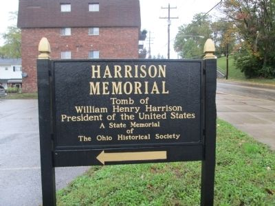 Harrison Memorial sign image. Click for full size.