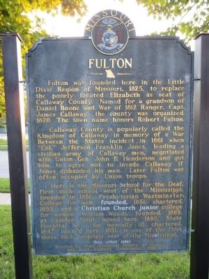 Fulton Marker <i>Side A:</i> image. Click for full size.