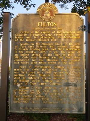 Fulton Marker <i>Side B:</i> image. Click for full size.