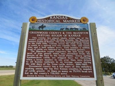 Greenwood County and the Bluestem Pasture Region of Kansas Marker image. Click for full size.