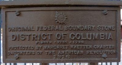 Original Federal Boundary Stone NW 9 Marker image. Click for full size.