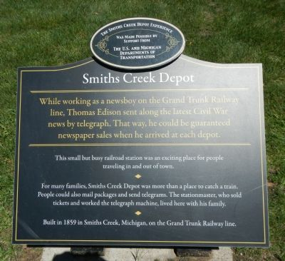 Smith Creek Depot Marker image. Click for full size.