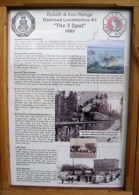 Duluth and Iron Range Railroad Locomotive #3 Marker image. Click for full size.