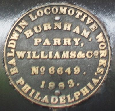 Duluth and Iron Range Railroad Locomotive #3 Builder Plate image. Click for full size.