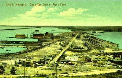 <i>Duluth, Minnesota Bird&#39;s Eye View of Rice&#39;s Point image. Click for full size.