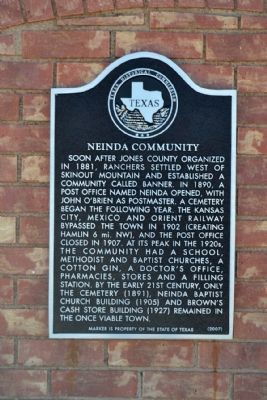 Neinda Community Marker image. Click for full size.