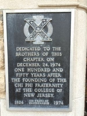 Chi Phi Fraternity Plaque image. Click for full size.