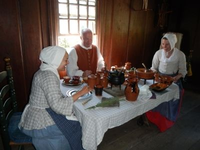 Meals at the Daggett Farmhouse are prepared the old fashion way. image. Click for full size.