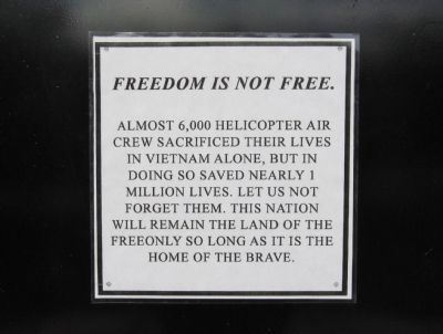 Freedom Is Not Free. image. Click for full size.