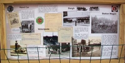 Hand Car, Velocipede, Sleigh, Station Wagon Marker image. Click for full size.
