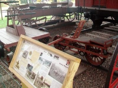 Hand Car, Velocipede, Sleigh, Station Wagon and Marker image. Click for full size.