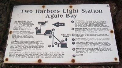 Two Harbors Light Station - Agate Bay Marker image. Click for full size.