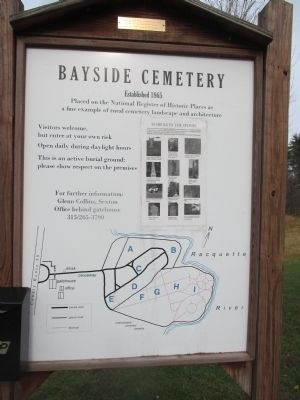 Bayside Cemetery Marker image. Click for full size.