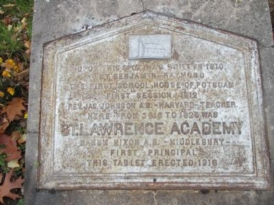 St. Lawrence Academy Marker image. Click for full size.