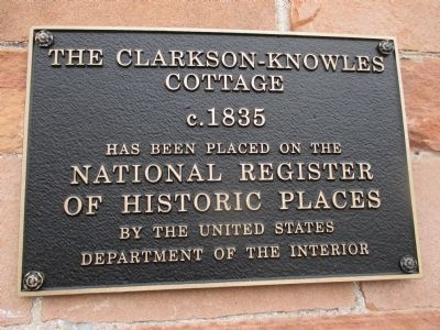 The Clarkson-Knowles Cottage Marker image. Click for full size.