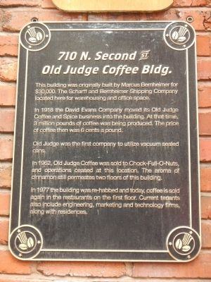 Old Judge Coffee Bldg. Marker image. Click for full size.