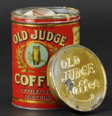 Old Judge Coffee image. Click for full size.