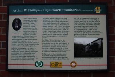 Arthur W. Phillips - Physician / Humanitarian Marker image. Click for full size.