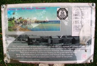 Agate Bay Commercial Fishing Village Marker image. Click for full size.