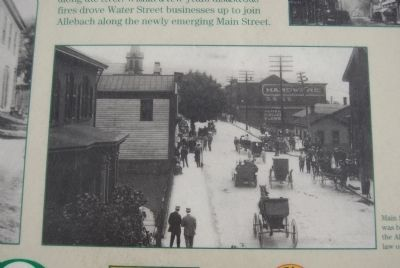West Main Street Development Marker image. Click for full size.