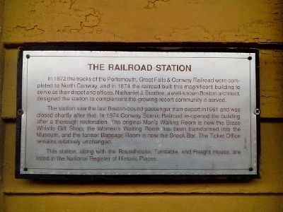 North Conway Railroad Station Marker image. Click for full size.