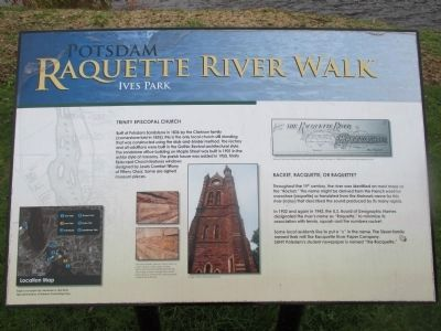 Potsdam Raquette River Walk Marker image. Click for full size.
