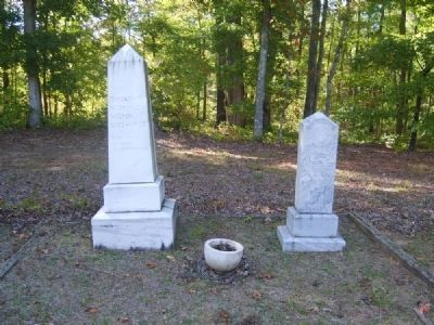 Henderson McDonald Walton (l) and Annie W. Walton (r) Tombstones image. Click for full size.