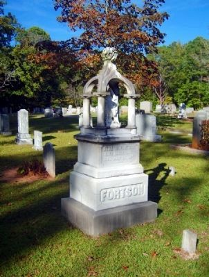 Benjamin W. Fortson Tombstone<br>Mentioned on the Marker image. Click for full size.
