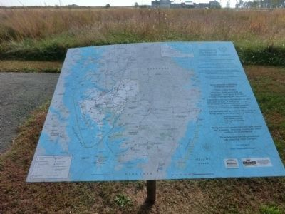 Map marker on the entrance road to Blackwater National Wildlife Refuge image. Click for full size.