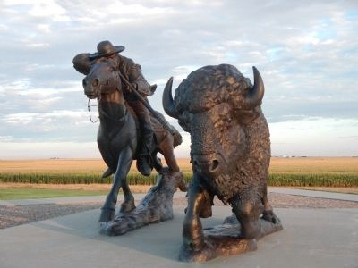 Sculpture at Buffalo Bill Cultural Center image. Click for full size.
