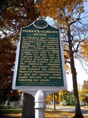 Paddock-Hubbard House Marker - Side 2 image. Click for full size.