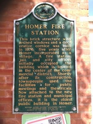 Homer Fire Station Marker image. Click for full size.