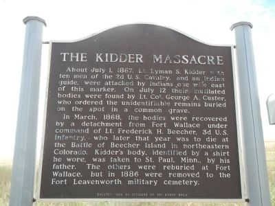 The Kidder Massacre Marker image. Click for full size.