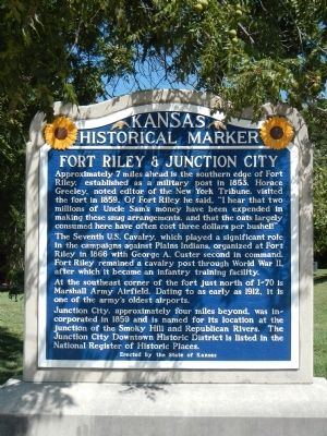 Fort Riley & Junction City Marker image. Click for full size.