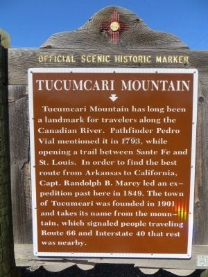 Tucumcari Mountain Marker image. Click for full size.