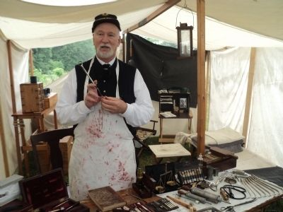 Civil War Doctor at the Spangler Farm image. Click for full size.