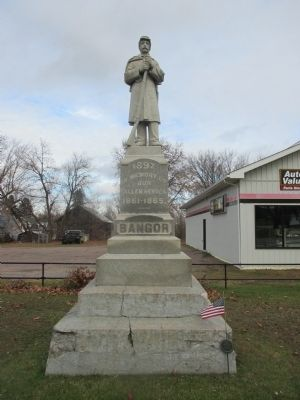 Bangor Civil War Memorial image. Click for full size.