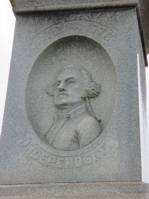 Rear - George Washington image. Click for full size.